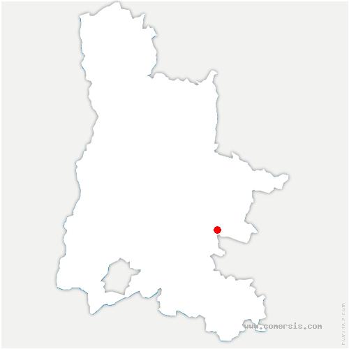 carte de localisation de Saint-Dizier-en-Diois