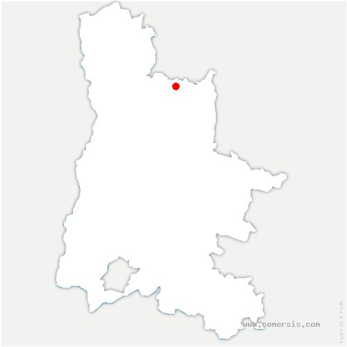 carte de localisation de Saint-Jean-en-Royans