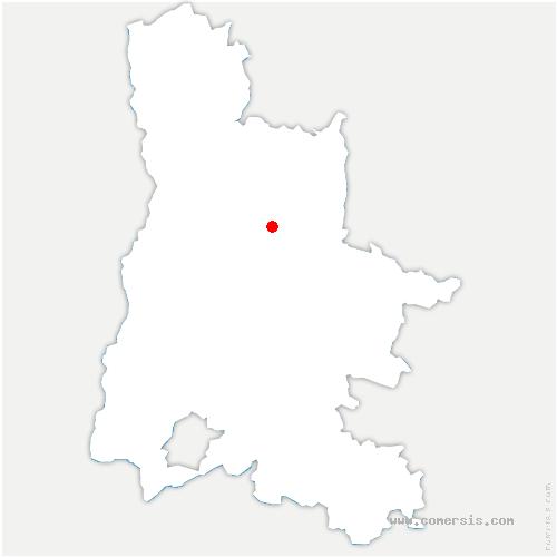 carte de localisation de Saint-Julien-en-Quint