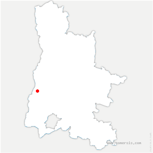 carte de localisation de Saint-Marcel-lès-Sauzet