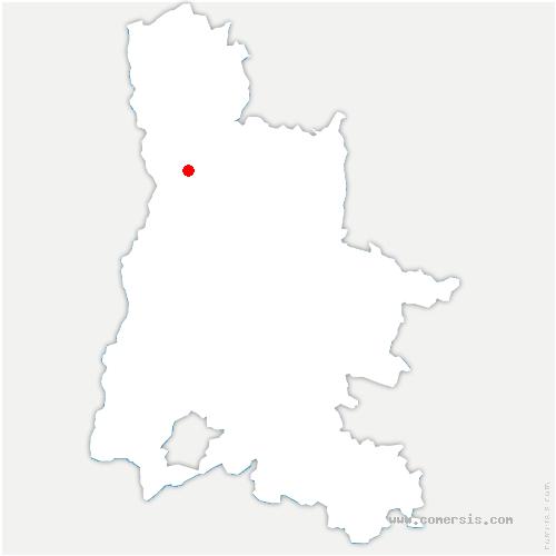 carte de localisation de Saint-Marcel-lès-Valence