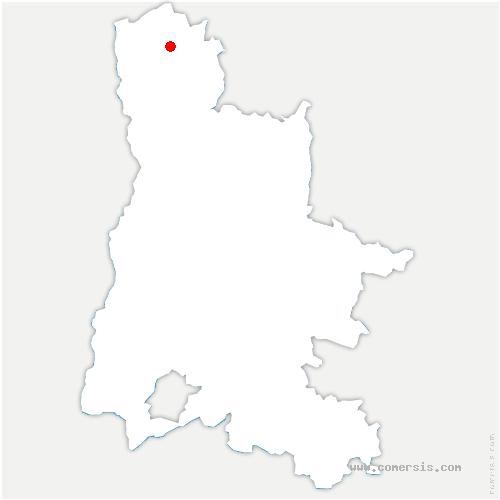 carte de localisation de Saint-Martin-d'Août