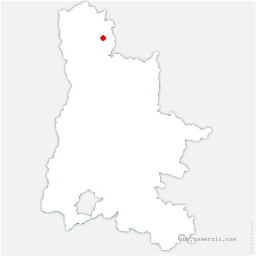 carte de localisation de Saint-Michel-sur-Savasse
