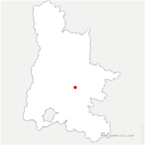 carte de localisation de Saint-Nazaire-le-Désert