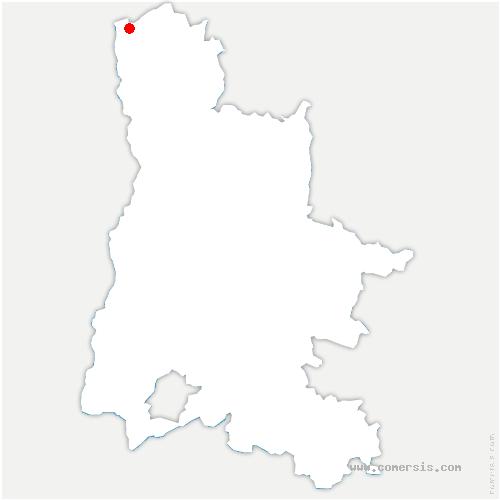 carte de localisation de Saint-Rambert-d'Albon