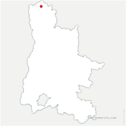 carte de localisation de Saint-Sorlin-en-Valloire