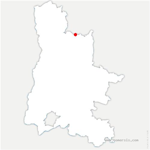 carte de localisation de Saint-Thomas-en-Royans