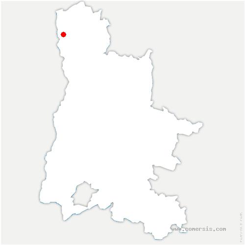 carte de localisation de Saint-Uze