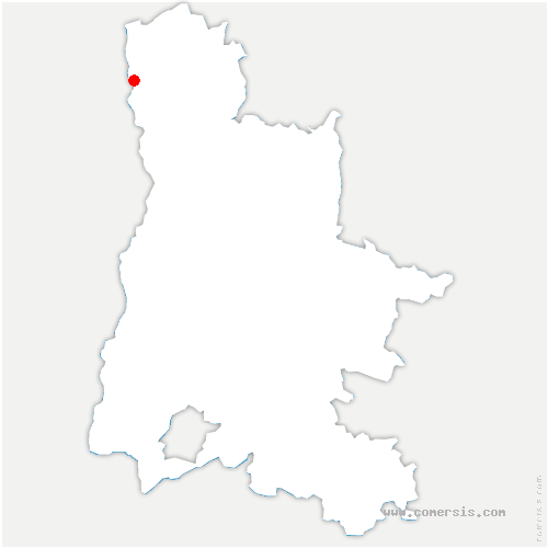 carte de localisation de Saint-Vallier