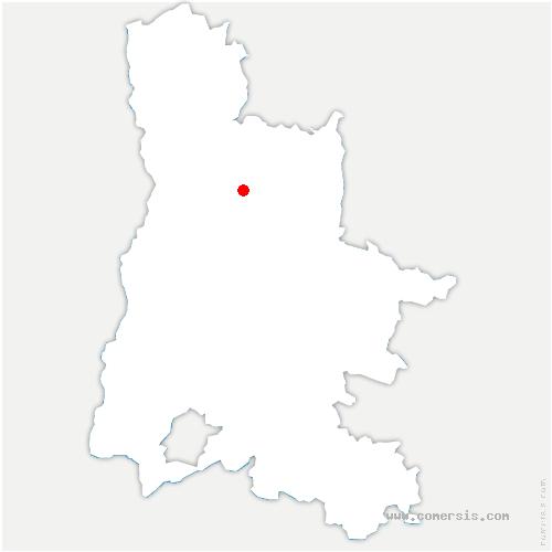 carte de localisation de Saint-Vincent-la-Commanderie