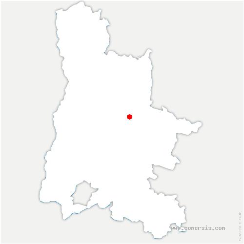 carte de localisation de Sainte-Croix