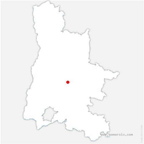 carte de localisation de Saou