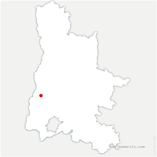 carte de localisation de Sauzet