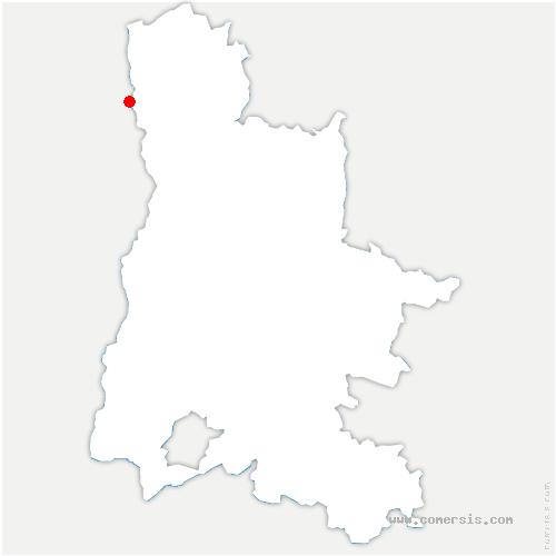 carte de localisation de Serves-sur-Rhône
