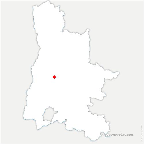 carte de localisation de Soyans