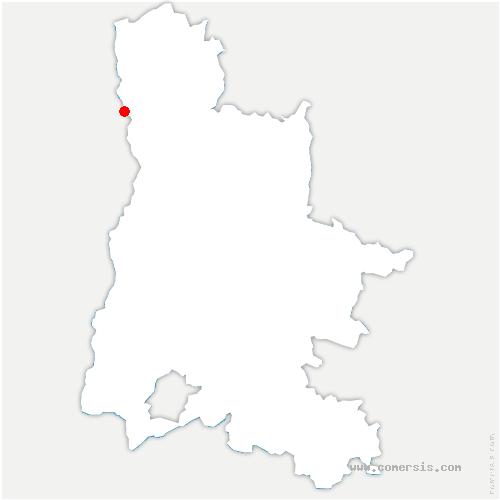 carte de localisation de Tain-l'Hermitage