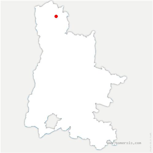 carte de localisation de Tersanne