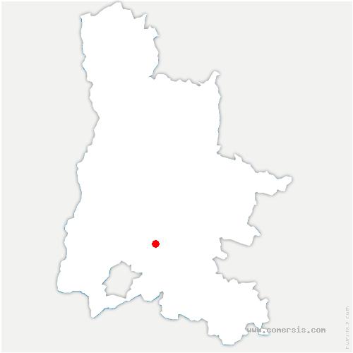 carte de localisation de Teyssières