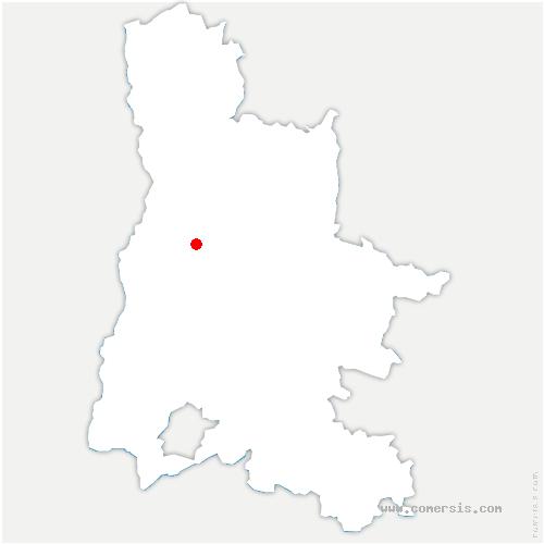 carte de localisation de Upie