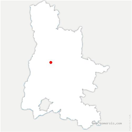carte de localisation de Vaunaveys-la-Rochette