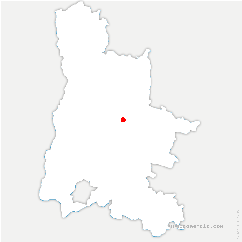 carte de localisation de Vercheny