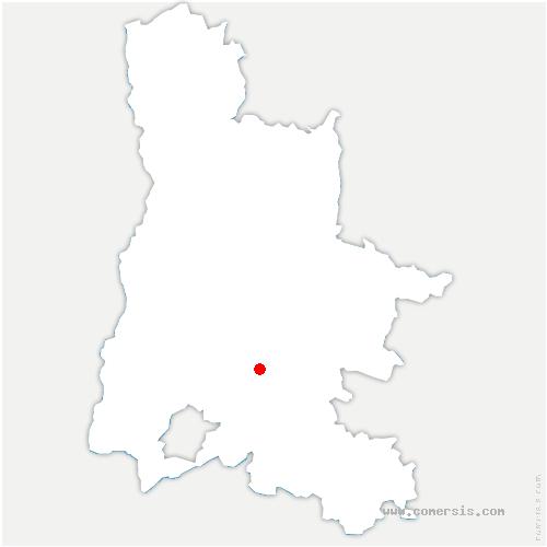 carte de localisation de Vesc