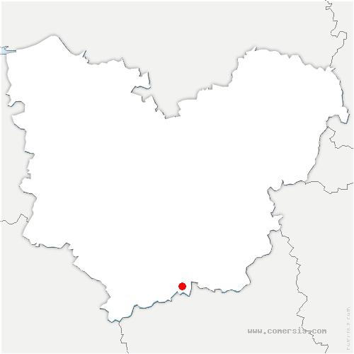 carte de localisation de Acon