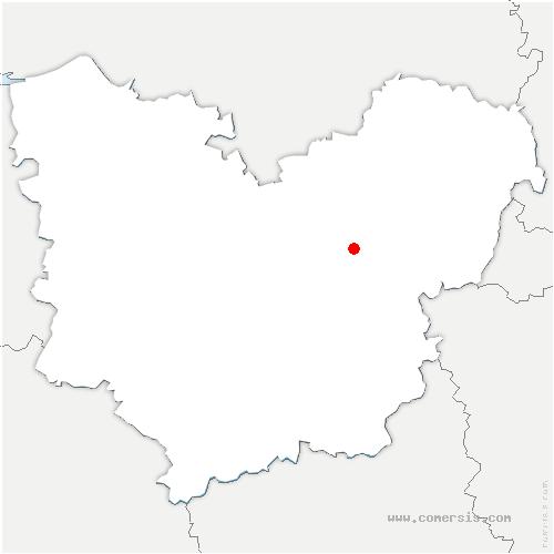 carte de localisation de Ailly