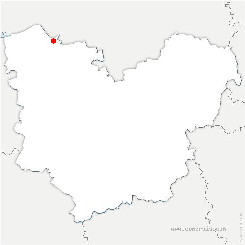 carte de localisation de Aizier