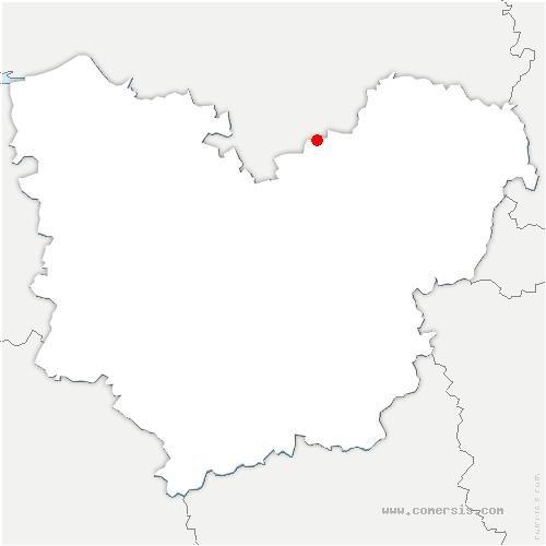 carte de localisation de Alizay