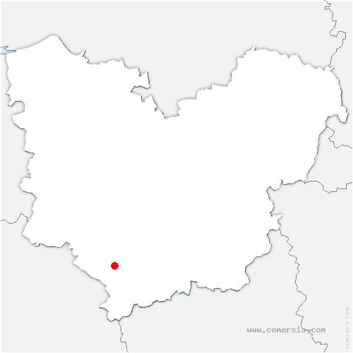 carte de localisation de Ambenay