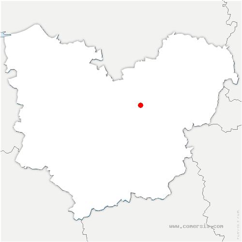 carte de localisation de Amfreville-sur-Iton