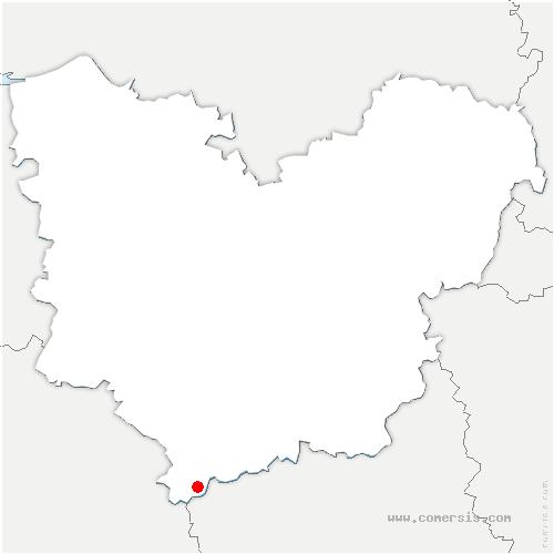 carte de localisation de Armentières-sur-Avre