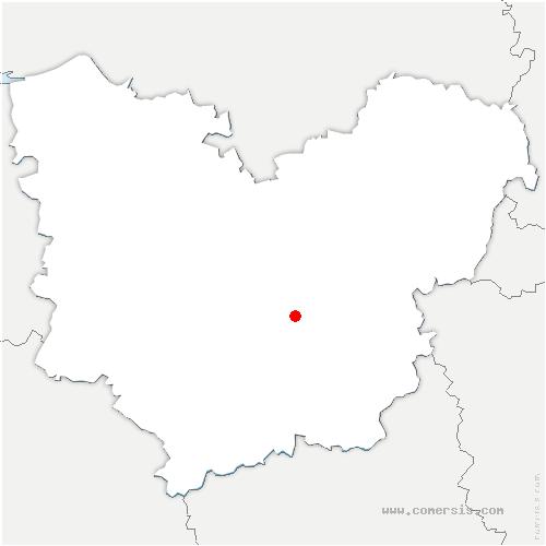 carte de localisation de Arnières-sur-Iton
