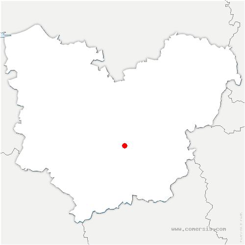 carte de localisation de Aulnay-sur-Iton