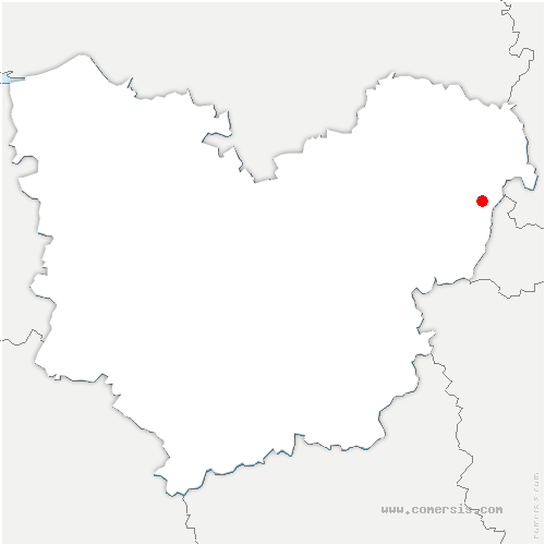 carte de localisation de Authevernes