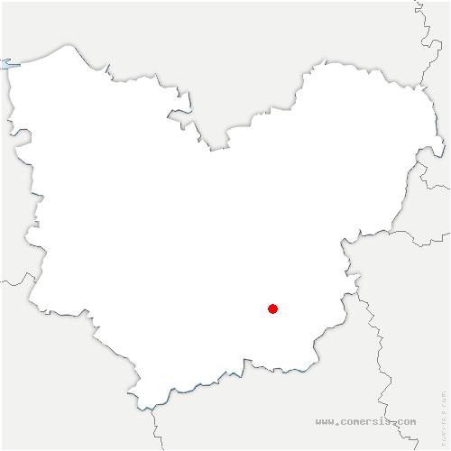 carte de localisation de Authieux
