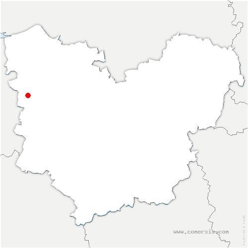 carte de localisation de Bailleul-la-Vallée