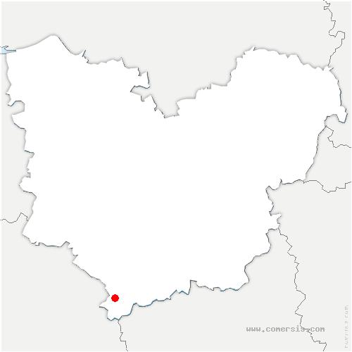 carte de localisation de Barils