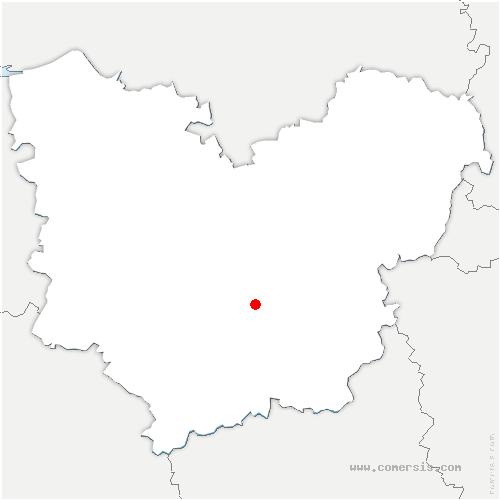 carte de localisation de Baux-Sainte-Croix