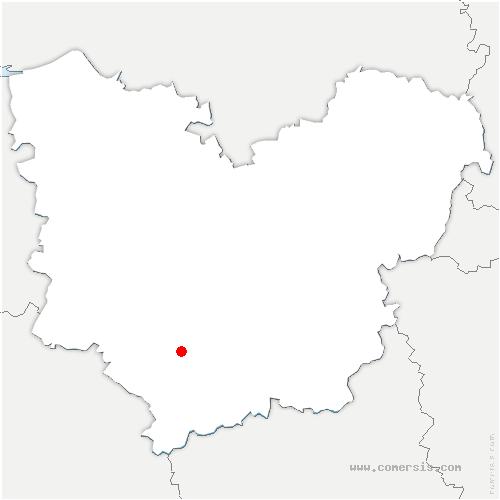 carte de localisation de Baux-de-Breteuil
