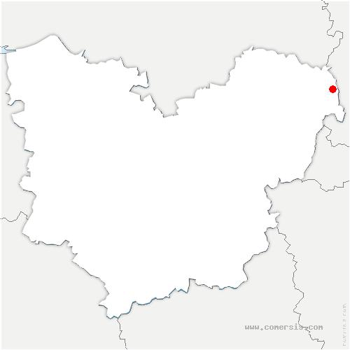 carte de localisation de Bazincourt-sur-Epte