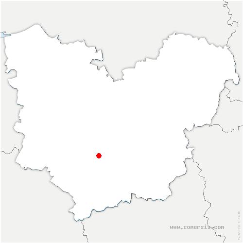 carte de localisation de Beaubray