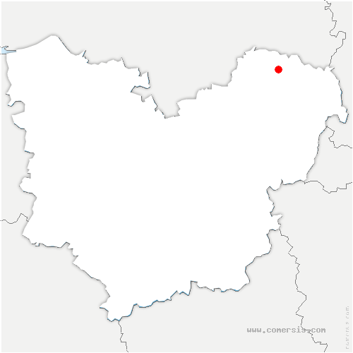 carte de localisation de Beauficel-en-Lyons