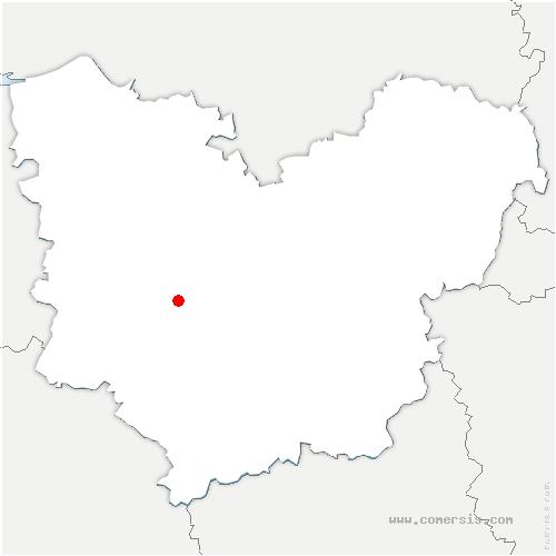 carte de localisation de Beaumont-le-Roger