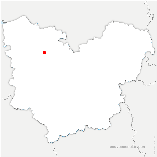 carte de localisation de Bec-Hellouin
