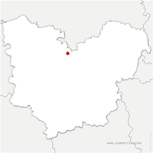 carte de localisation de Bec-Thomas