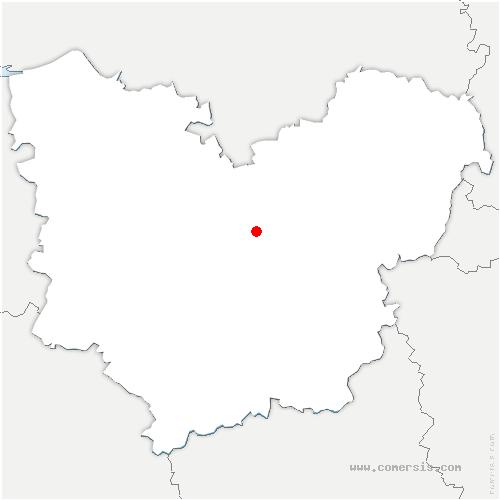 carte de localisation de Bérengeville-la-Campagne