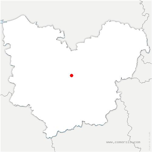 carte de localisation de Bernienville