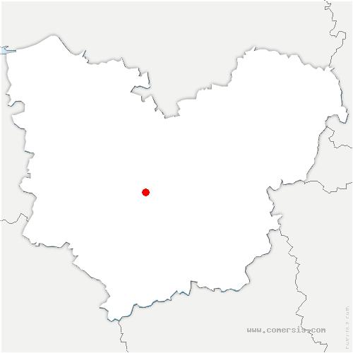 carte de localisation de Berville-la-Campagne